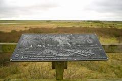 Placa del pantano de la cala de Anderby foto de archivo