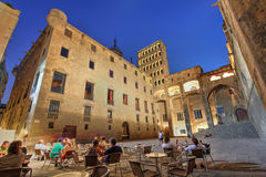Placa del Rei,巴塞罗那,西班牙 库存照片
