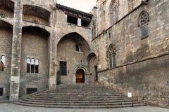 Placa del Rei, Gothic Quarter, Barcelona, Spain Stock Photos