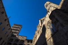 Placa del Rei och Palau Reial ha som huvudämne i Barcelona Royaltyfri Fotografi