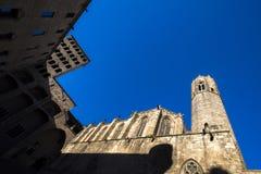Placa del Rei och Palau Reial ha som huvudämne i Barcelona Fotografering för Bildbyråer