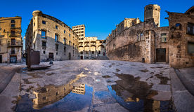Placa del Rei and Palau Reial Major in Barcelona, Catalynia Royalty Free Stock Photography