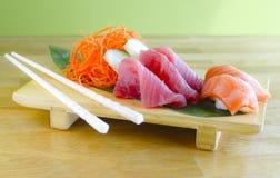 Placa del Sashimi Fotos de archivo libres de regalías