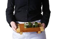 Placa del sushi Imágenes de archivo libres de regalías