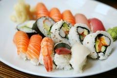 Placa del sushi Fotografía de archivo libre de regalías