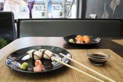 Placa del sushi Fotos de archivo libres de regalías
