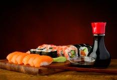 Placa del sushi Foto de archivo libre de regalías