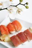 Placa del sushi imagen de archivo libre de regalías