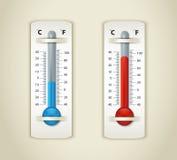 Placa del termómetro Fotografía de archivo