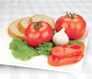 Placa del tomate Fotografía de archivo