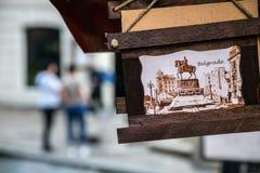 Placa del vintage en Belgrado - Serbia Imagen de archivo libre de regalías