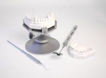 Placa dental do vampiro Fotos de Stock Royalty Free
