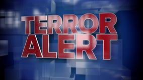 Placa dinámica del fondo de la página de título de la alarma del terror libre illustration