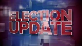 Placa dinámica del fondo de la página de título de las noticias de la actualización de la elección metrajes