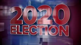 Placa dinámica 2020 del fondo de la página de título de las noticias de la elección almacen de video