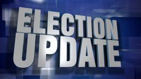 Placa dinâmica do fundo da transição e do frontispício da notícia da atualização da eleição video estoque