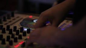 Placa DJ do DJ video estoque