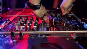 Placa DJ do DJ vídeos de arquivo