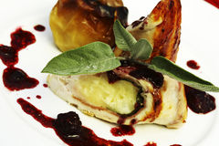 Placa do alimento Fotos de Stock Royalty Free