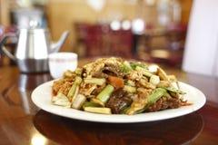 Placa do alimento chinês Imagem de Stock