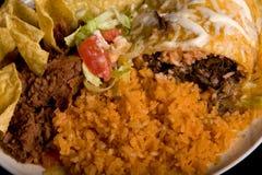 Placa do alimento mexicano Imagem de Stock