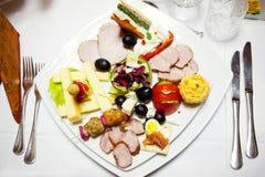 Placa do alimento na cerimónia Imagem de Stock