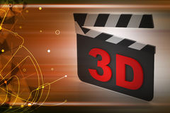 placa do aplauso do cinema 3d Fotografia de Stock