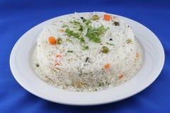 Placa do arroz fotografia de stock