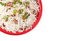 Placa do arroz imagens de stock
