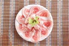 Placa do bacon Fotos de Stock
