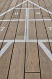 Placa do baralhamento em um navio de cruzeiros imagens de stock