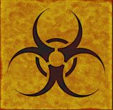 Placa do Biohazard Foto de Stock Royalty Free