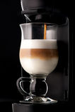 Placa do cappuccino e do menu Fotografia de Stock Royalty Free