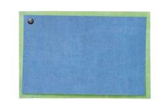 Placa do cartão ou do convite isolada no branco Foto de Stock
