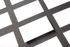 Placa do cartão sobre a tabela do escritório Modelo de marcagem com ferro quente dos artigos de papelaria incorporados Foto de Stock Royalty Free