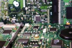 Placa do circuito integrado de um disco rígido Fotos de Stock