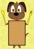 Placa do cão dos desenhos animados Foto de Stock