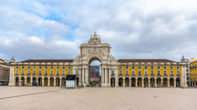 Placa do Comercio in Lisbon Royalty Free Stock Photos