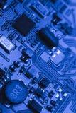 Placa do computador com microplaquetas Imagem de Stock