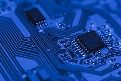 Placa do computador com microplaquetas Imagens de Stock