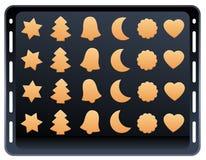 Placa do cozimento da cookie da pastelaria do Shortcrust Imagens de Stock