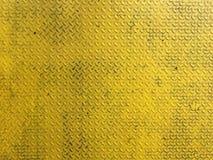 Placa do diamante do metal amarelo ou do aço Foto de Stock Royalty Free