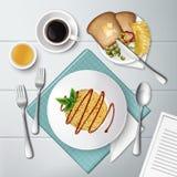 Placa do espaguete Fotos de Stock