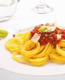Placa do espaguete Bolonhês Imagens de Stock