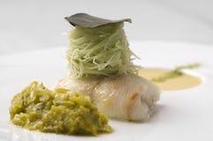 Placa do espaguete de Fishand Imagens de Stock Royalty Free