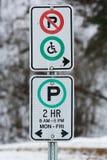 Placa do estacionamento foto de stock royalty free