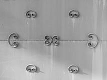 Placa do ferro da cerca do metal do vintage Fotos de Stock Royalty Free