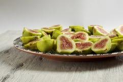 Placa do fruto do figo Imagem de Stock