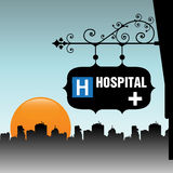 Placa do hospital Imagem de Stock Royalty Free