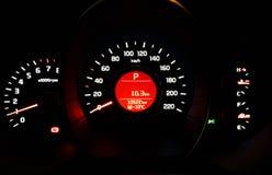 Placa do instrumento do medidor de velocidade do carro Imagem de Stock